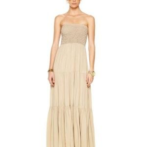 Michael Kors Tiered Smocked Maxi Dress M
